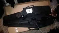 Ar15, Gun, Scope,2 clips,100 round drum , Like new, with box and manual for gun and brand new carrying case