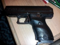 Luger 9mm hand gun, Gun, Extra clip, High point Luger 9mm