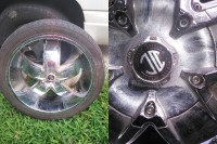 "4 - 24"" car rims , Other, chrome wheels. crave alloy"