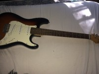 Aria STG series guitar, Musical Instruments, Equipment, 1 VOLUME, 2 tone knobs, all new strings