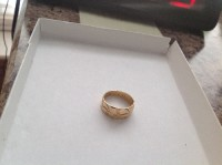 14k gold band, Jewelry, 14k gold wedding band 4 grams, Hand made scroll design (etched)