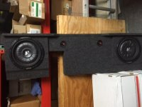 "2-10"" Kicker Woofers in speaker box for Ford F150, Electronics, Kicker, 2-10"" Kickers in speaker box built for Ford F150 back seat"