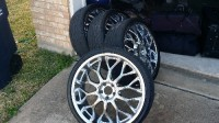 22 inch rims, Other, 22 inch chrome wheels with tires. One tire has sidewall damage. Rims still in great shape!