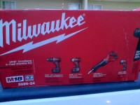 Milwaukee 18 volt combo tool kit., Tools, Equipment, Milwaukee combo kit. 18volt hammer drill, impact sawzall, flashlight. 2 battery and charger.