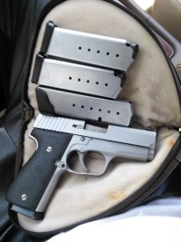 .40 Kahr handgun, Gun, Soft case and extra clip