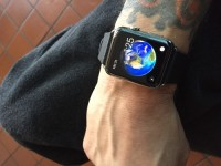 iwatch 42mm with upgraded black leather band, Luxury Watch, Apple iwatch 42mm , screen protector face as well