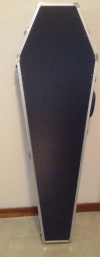 guitar and guitar case, Musical Instruments, Equipment, BC Rich Warlock with amp plug-in and coffin case