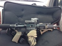 Ar-15, Gun, All magpul up grades., Yhm upper with a 7 and 1/2 inch barrel