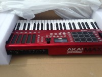 Akai max 49, Musical Instruments, Equipment, 8 backlit LED touch faders for gradual or instant parameter value changes Built-in step sequencer for detailed track construction CV and Gate outputs for use with vintage analog synths (1V/Oct) Included AkaiConnect software automatically maps to VST™ plugins Expanded arpeggiator with latch and time division controls Mackie Control® and HUI® modes provide instant compatibility with many DAWs 49 semi-weighted keys with Aftertouch for complete musical expression 12 backlit, real MPC pads with MPC Note Repeat and MPC swing 4 pad banks and 4 fader banks provide a total of 80 assignable pads and faders Large, centrally-positioned transport controls and rubberized pitch and modulation wheels Includes Ignite™ music creation software with over 275 instrument sounds from AIR Music Technology