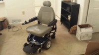 Jazzy Select electronic wheelchair, Tools, Equipment, Jazzy Select.  About 4 years old.  Zero turn feature.  Extra battery charger. Leather seat in perfect condition.