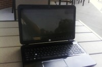 "hp laptop, Electronics, HP d035dx, 15.6""  750GB HDD  4GB RAM 11 Months old missing S key."