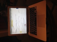Macbook Air 13 Inch 128 gb, Electronics, Model Name:MacBook Air   Model Identifier:MacBookAir6,2   Processor Name:Intel Core i5   Processor Speed:1.4 GHz   Number of Processors:1   Total Number of Cores:2   L2 Cache (per Core):256 KB   L3 Cache:3 MB   Memory:4 GB   Boot ROM Version:MBA61.0099.B12   SMC Version (system):2.13f9   Serial Number (system):C17N6PUVG085   Hardware UUID:4089A929-EFB3-58B7-8AB8-1BDE82C48F4C