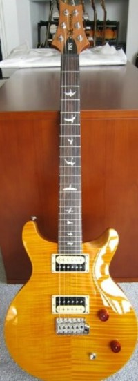 prs Santana guitar , Musical Instruments, Equipment, Prs Santana yellow with upgrades and hard case