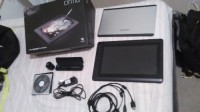 13hw cintiq drawing tablet / Bluetooth keyboard and Go Pro Hero , Electronics, 13HD Cintiq Drawing Tablet by Wacom, Like need in box. Only used once. Comes with 13.3 inch LED display full HD 1920 by 1080 resolution; Pressure sensitive pen with holder and exchangeable tips; Adjustable stand; 3 way HDMI, USB and Power cable; and complete software.