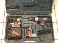 Bosch 18v drill kit , Tools, Equipment, Bosch 18v drill kit with 2 batteries, charger and case in good working condition. Willing to PAWN or SELL.