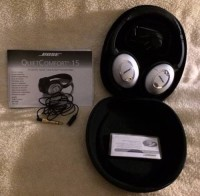 BOSE QC15 Noise Cancelling Headphones, Electronics, Bose QC15, Includes original case, and adapters.