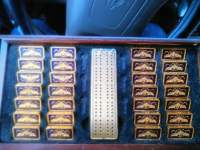 golden faberge imperial set of dominoes , Precious Metal or Stones, 24 carat , The case it came in the glass is not there anymore