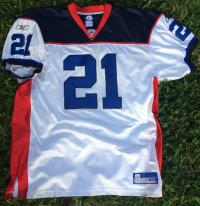 Willis Magahee, Original Game worn and autographed.