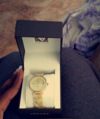 Ann Klein watch, Luxury Watch, Anne Klein, gold & marble face. paid $124