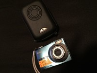 Camera, Electronics, Kodak easy share C813, Light scratches has video and camera zoom comes with case