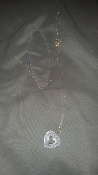 10k gold chain, Jewelry, 4 grams, Chain and charm