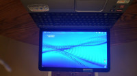 """toshiba satellite laptop, Electronics, toshiba satellite L855D-S5220, This Toshiba 15.6"""" Satellite L855D-S5220 Laptop sports a thin frame and a cool brushed aluminum chassis. Open it up, and you will experience your games, movies and pictures in brilliant HD thanks to a package of multimedia features.      Operating system: Microsoft Windows 7 Home Premium (64-bit) FRESH INSTALL!!!!!     Display: 15.6"""" HD TruBrite LED Backlit Display     Webcam: In-bezel     Processor: 1.9GHz AMD Quad-Core A8-4500M 2.8GHz w/TURBO-BOOST     Cache: 4MB L2     Memory: 6GB DDR3 1600MHz     Hard drive: 640GB SATA 5400 rpm     Optical drive: DVD+/-RW (DL)     Graphics: AMD Radeon HD 7640G     Networking: Wi-Fi 802.11b/g/n, Ethernet     Ports: 2 x USB 3.0, 1 x USB 2.0, 1 x headphone, 1 x microphone, 1 x Ethernet (RJ-45), 1 x VGA, 1 x HDMI     Battery: 6-Cell Lithium-Ion     Model: L855D-S5220     Included items: Toshiba Satellite L855D-S5220, AC Adapter, Power Cord     Dimensions: 9.53"""" x 1.14"""" x 14.9""""     Weight: 5.3 lbs"""