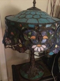 Tiffany Lamp, Other, Some of the glass pieces are missing.