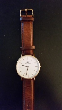 Daniel Wellington watch, Jewelry, 8 ounces, Daniel Wellington Rose Gold watch, leather band, 2 months old, perfect condition