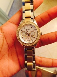 Fossil watch, Luxury Watch, Fossil , White gold with diamonds