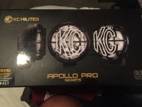 Kc hilites Apollo pro series, Tools, Equipment, Kc hilites Apollo pro series driving lamps. Halogen 55 watt black polymax housing #451 everything still in bags