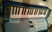 Excalibur Melodica , Musical Instruments, Equipment, I have an Excalibur melodica that's clear color with a blue case. It's been used, but not much.