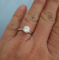 Diamond ring 1.1 carat, Jewelry, 1.1 carats diamond (vvsi)  in 14k.white gold band, 1.1 carats diamond ring