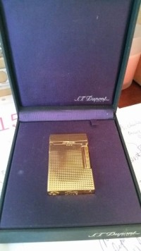 S.T. Dupont Paris gold plated diamond head gatsby lighter, ,