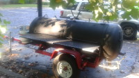 smoker trailer, Other, smoker trailer with two propane burners