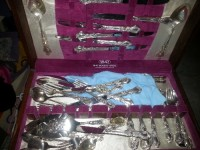 1847 Rogers brothers silver plated flatware complete set in nice, Other, 1847 Rogers bras finest silver plated flatware in nice wooden box