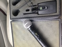 Shire sm58  model ulx2-j1 wireless mic , Musical Instruments, Equipment, Like new wireless mic and Shute ulcer transmitter