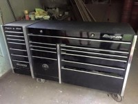 Large snap on toolbox , Other, Large black snap on toolbox with added side cart