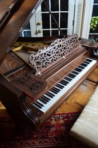 Grand piano, Musical Instruments, Equipment, Knabe concert grand piano made of rosewood circa mid 1800's. Completely refurbished in 2010