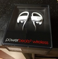 Beats by Dre powerbeats2 wireless earphones, Electronics, Brand new. Still in box. White, Bluetooth, great sound.. Have receipt. Very hot item right now!