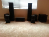 Pioneer speakers, Electronics, Pioneer speakers-4 spfs52, 2 spbs22, 1 spc22, 1 saw2500, Andrew Jones series