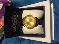 Movado bold gold watch , Luxury Watch, Movado bold, 2-hand automatic model , Like new, all gold with a bold face.