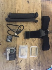 GoPro Hero 4, Electronics, Hero 4, the one with the smaller batter life cost 499.00 just bought it a month ago. with head-strap mount and extra battery.