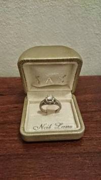 Neil Lane Engagement Ring , 14K White Gold Neil Lane Engagement Ring with 1.5 carat total weight. Size 8., Like new
