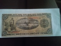 1914 Mexican Currency .5 pounds bank of england , Antique, Collectible, A 5 pesos paper currency dated 1914 series c.  687894.687893