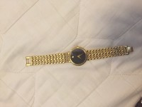 Men's yellow gold movado watch, Luxury Watch, Movado museum sapphire crystal yellow gold