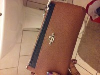 coach wallet, Designer Wear & Handbags, Brand new coach wrislet wallet with pouch still has tags on it
