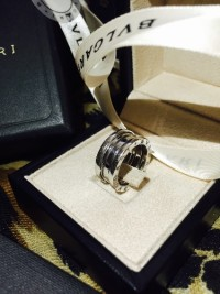 Bvlgari 18k White Gold B-Zero1 Ring 3 Band, Jewelry, 18k white gold, Bvlgari 18k White Gold B-Zero1 Ring 3 Band