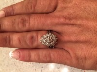 Diamond ring, Jewelry, Not sure of carats on this ring