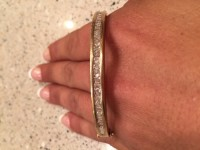 Diamond bangle, Jewelry, 1 1/4 ct t.w. Diamond bangle, Clasp needs repaired