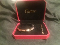 Cartier bracelet , Jewelry, 18k pink gold, set with 204 brilliant cut diamonds = 2 carats , Bracelet, Cartier